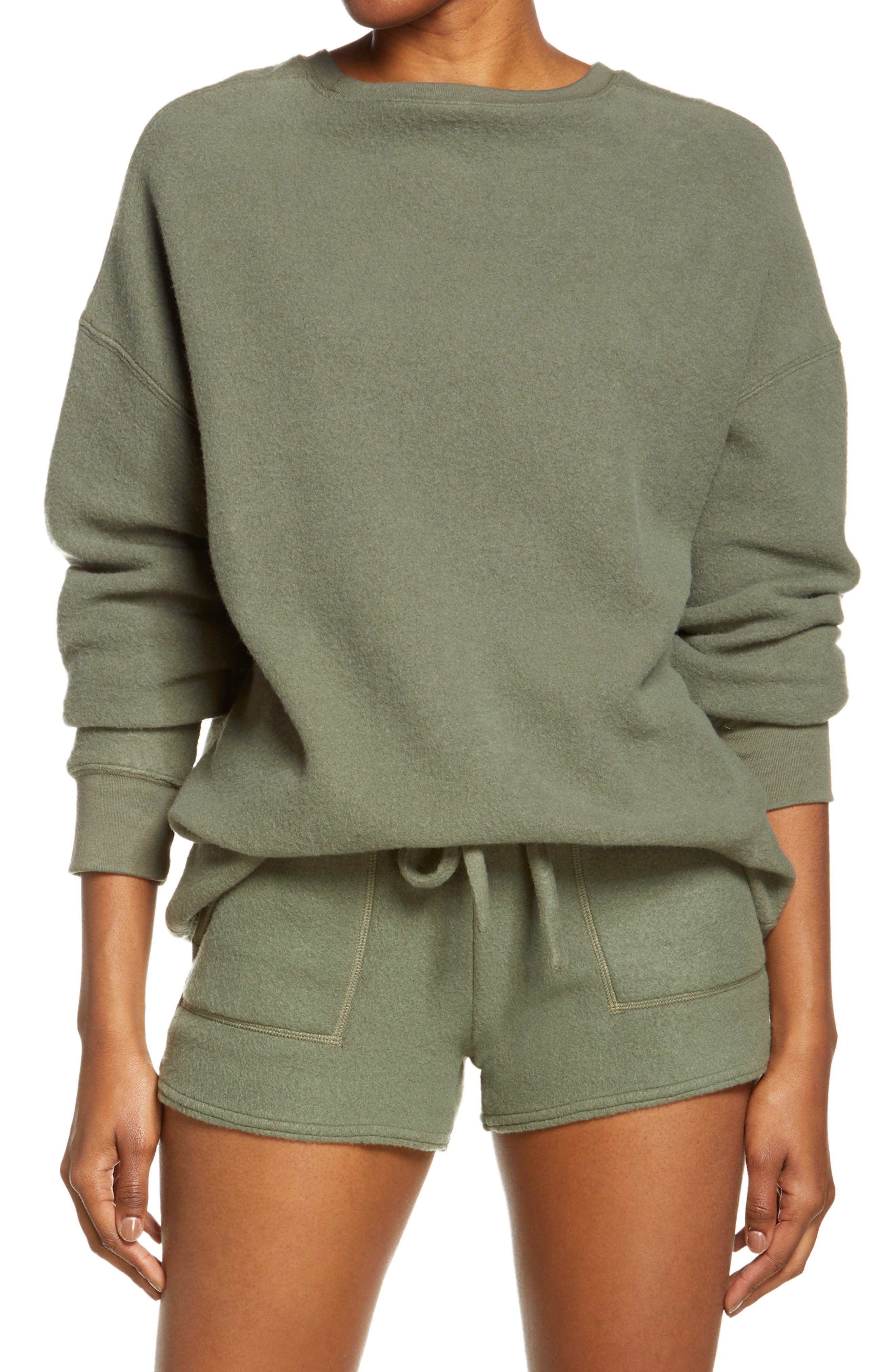 Women's Bella+Canvas Sueded Crewneck Sweatshirt