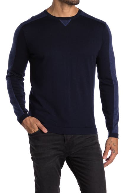 Image of Raffi Long Sleeve Colorblock Crew Neck Sweater