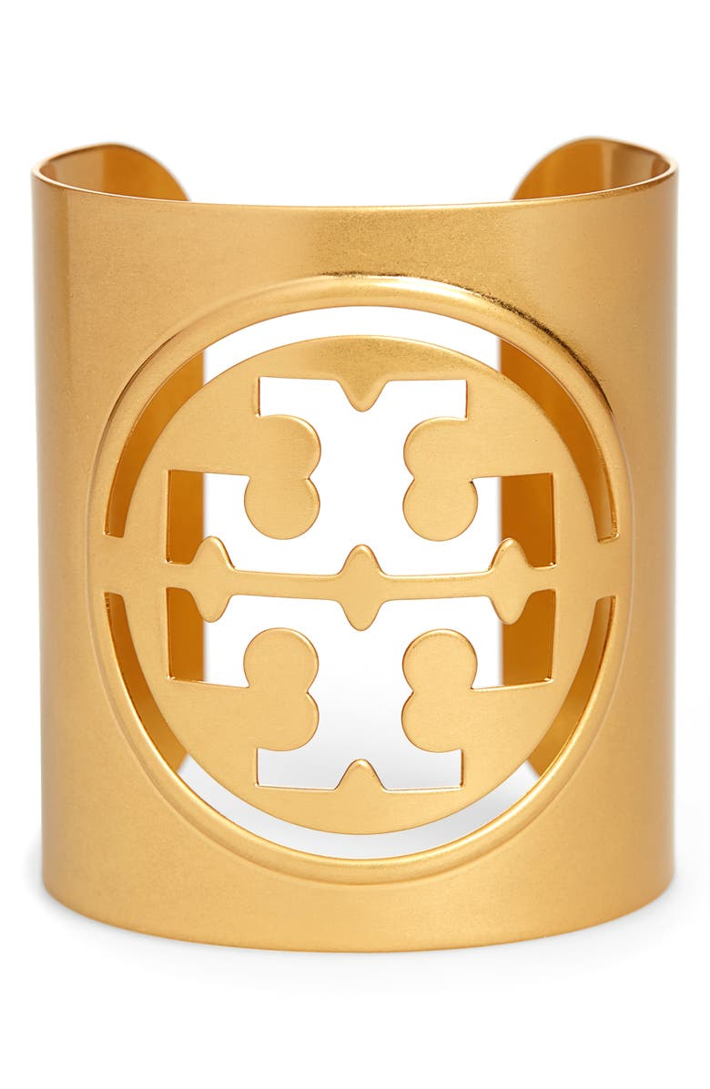 TORY BURCH Logo Cuff, Main, color, ROLLED BRASS 59