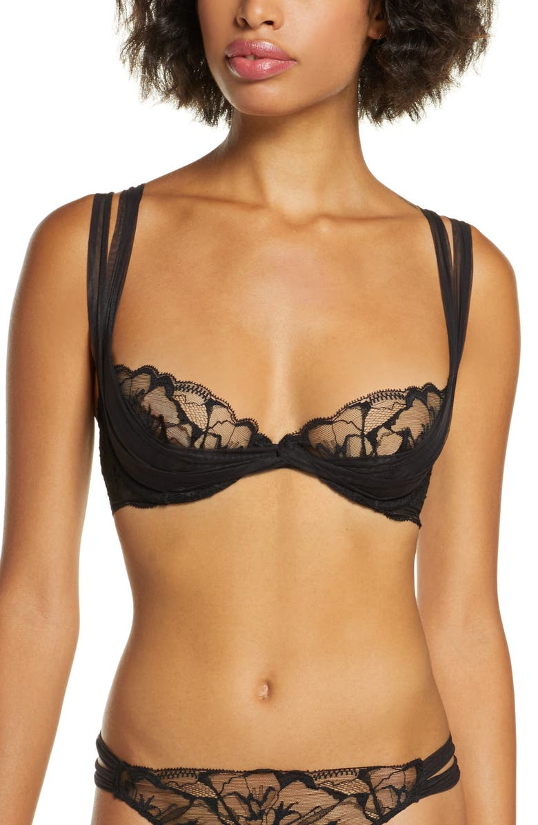 LA PERLA Alida Underwire Balconette Bra, Main, color, 001