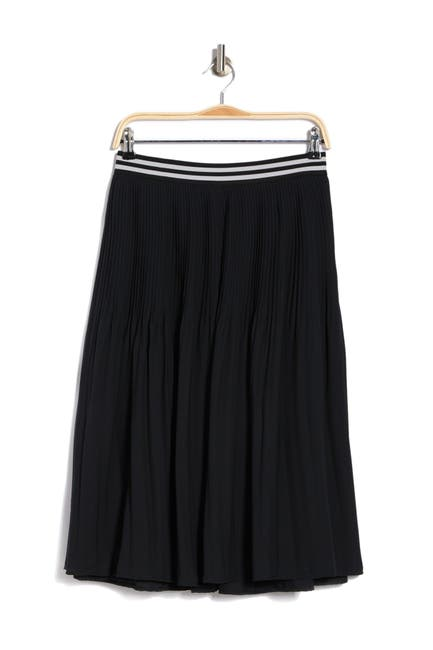 Image of 14TH PLACE Pleated Pull-On Midi Skirt