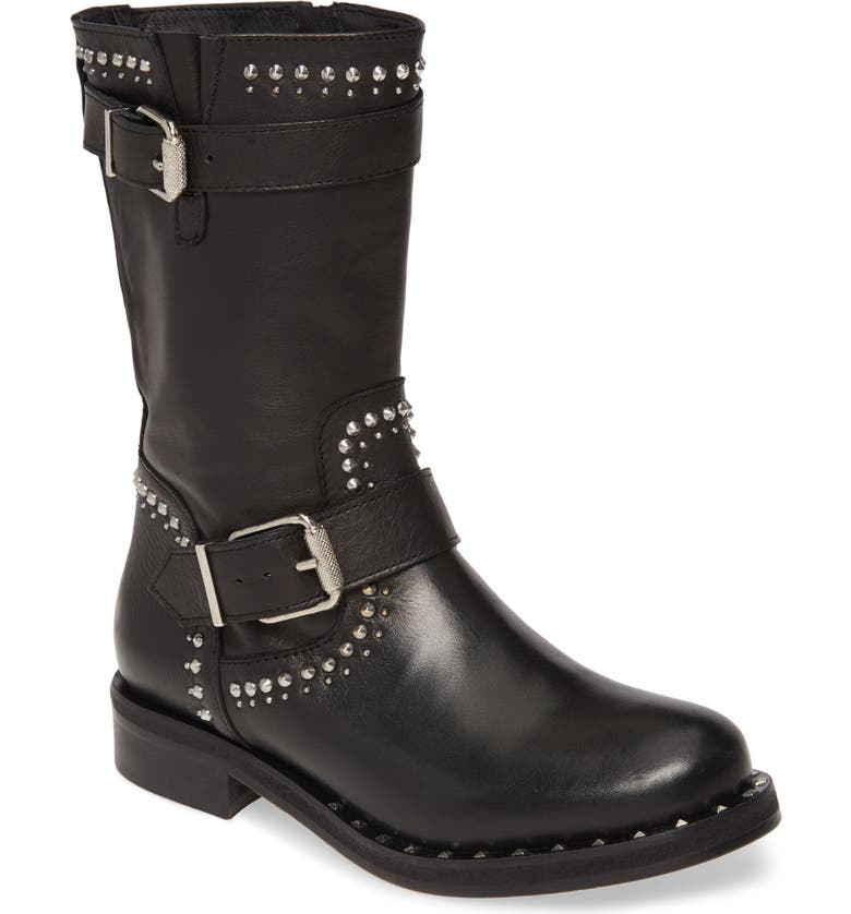 CHARLES DAVID Whistler Boot, Main, color, BLACK LEATHER
