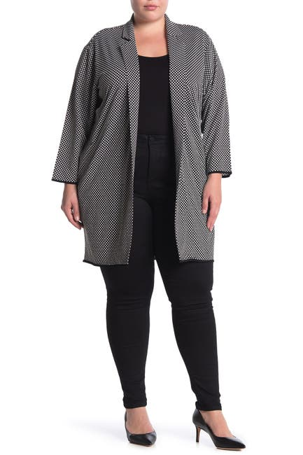 Image of Philosophy Apparel Jacquard Open Front Topper Jacket