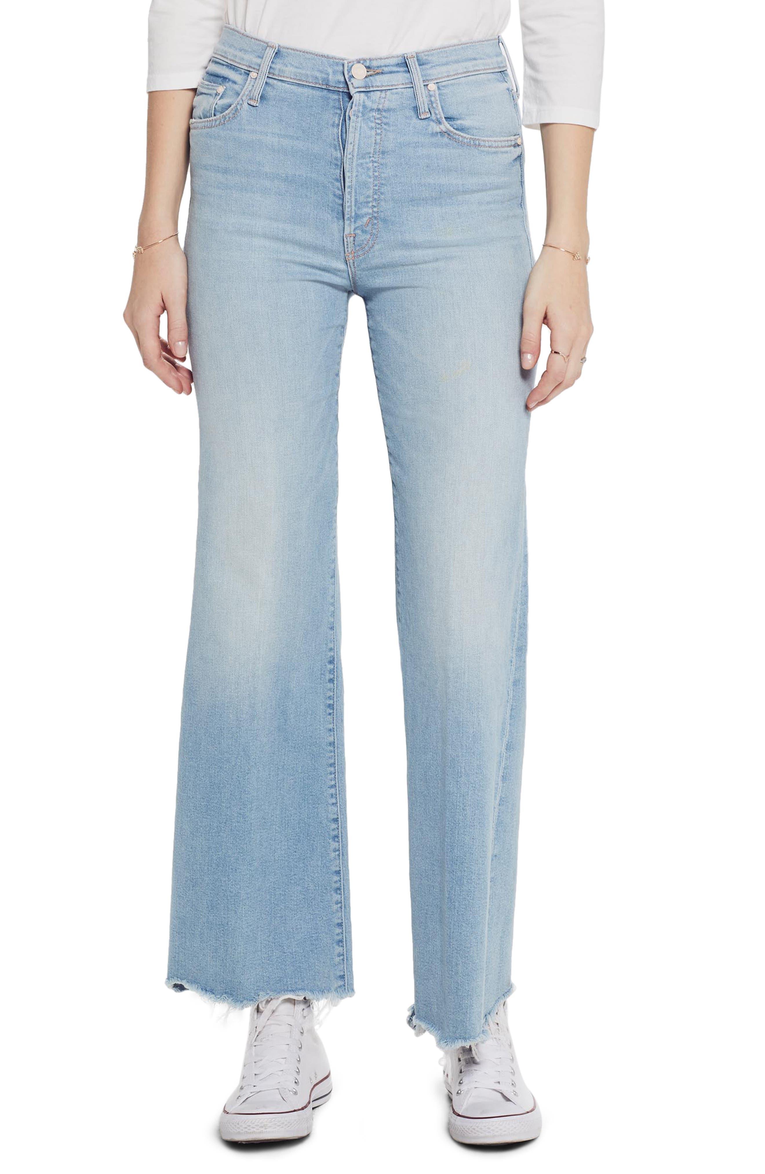 Mother Jeans The Tomcat Roller High Waist Chew Hem Jeans