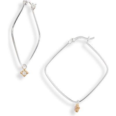 Argento Vivo Rhombus Hoop Earrings