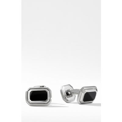 David Yurman Deco Cuffl Links With Black Onyx