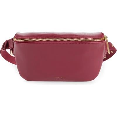 Matt & Nat Vie Faux Leather Belt Bag - Burgundy