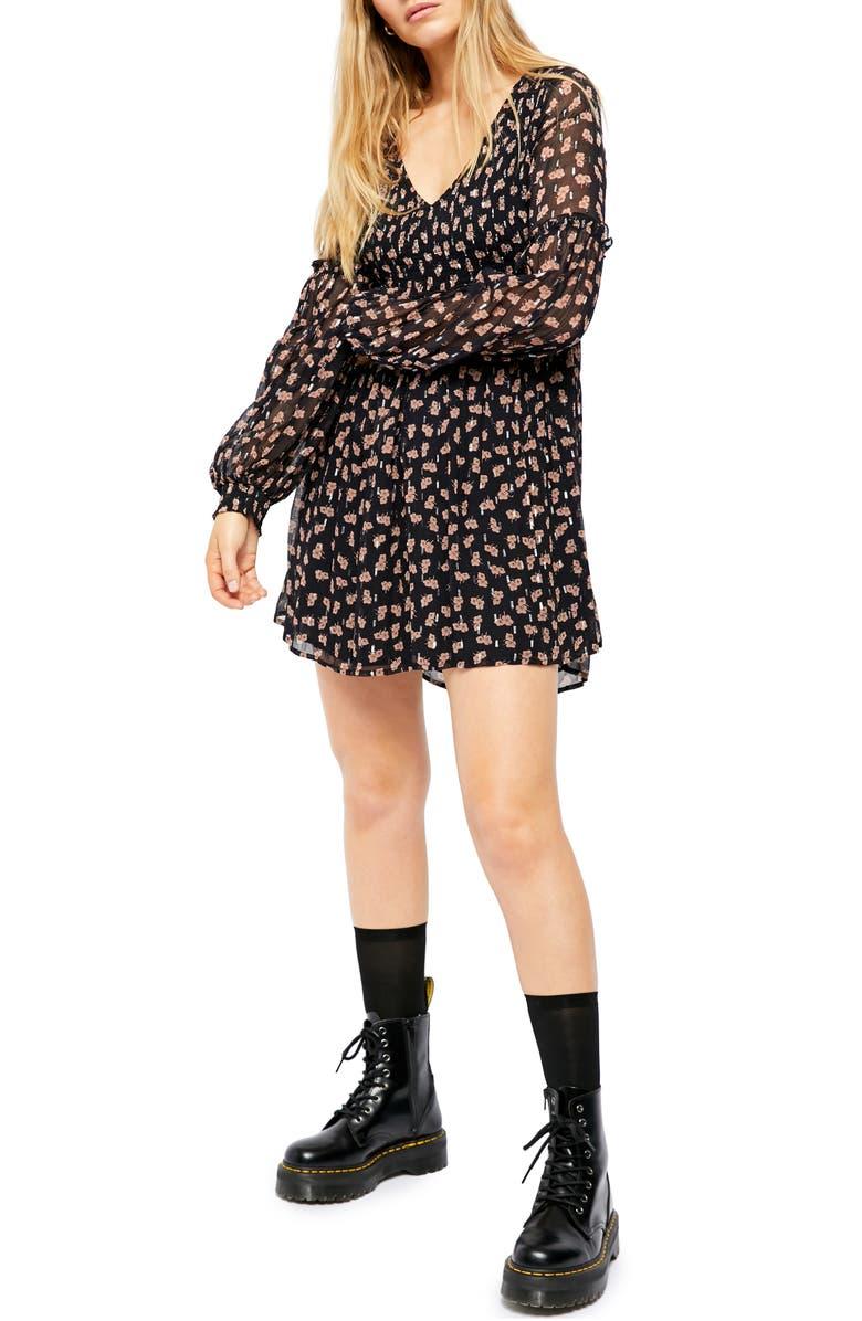 FREE PEOPLE Maria Long Sleeve Minidress, Main, color, 409