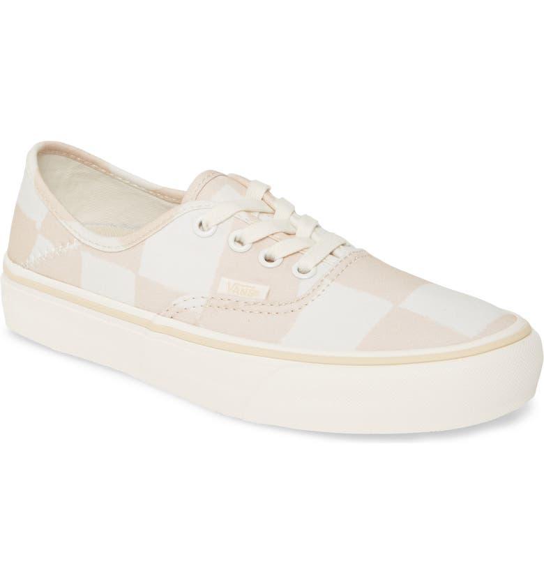 VANS Authentic Print Low Top Sneaker, Main, color, MACADAMIA/ MARSHMALLOW