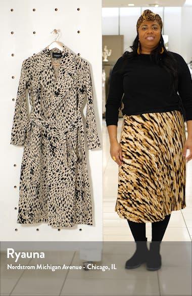 Zelida Spot Print Trench Coat, sales video thumbnail