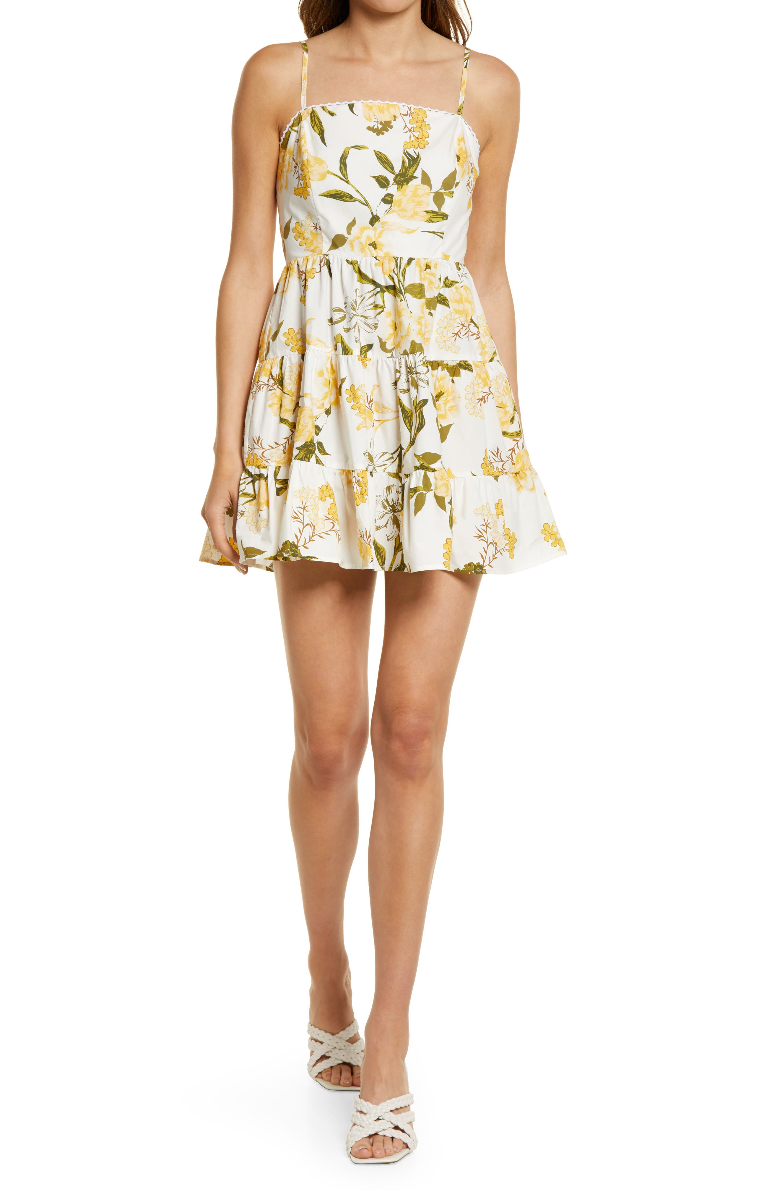 Floral Tiered Minidress