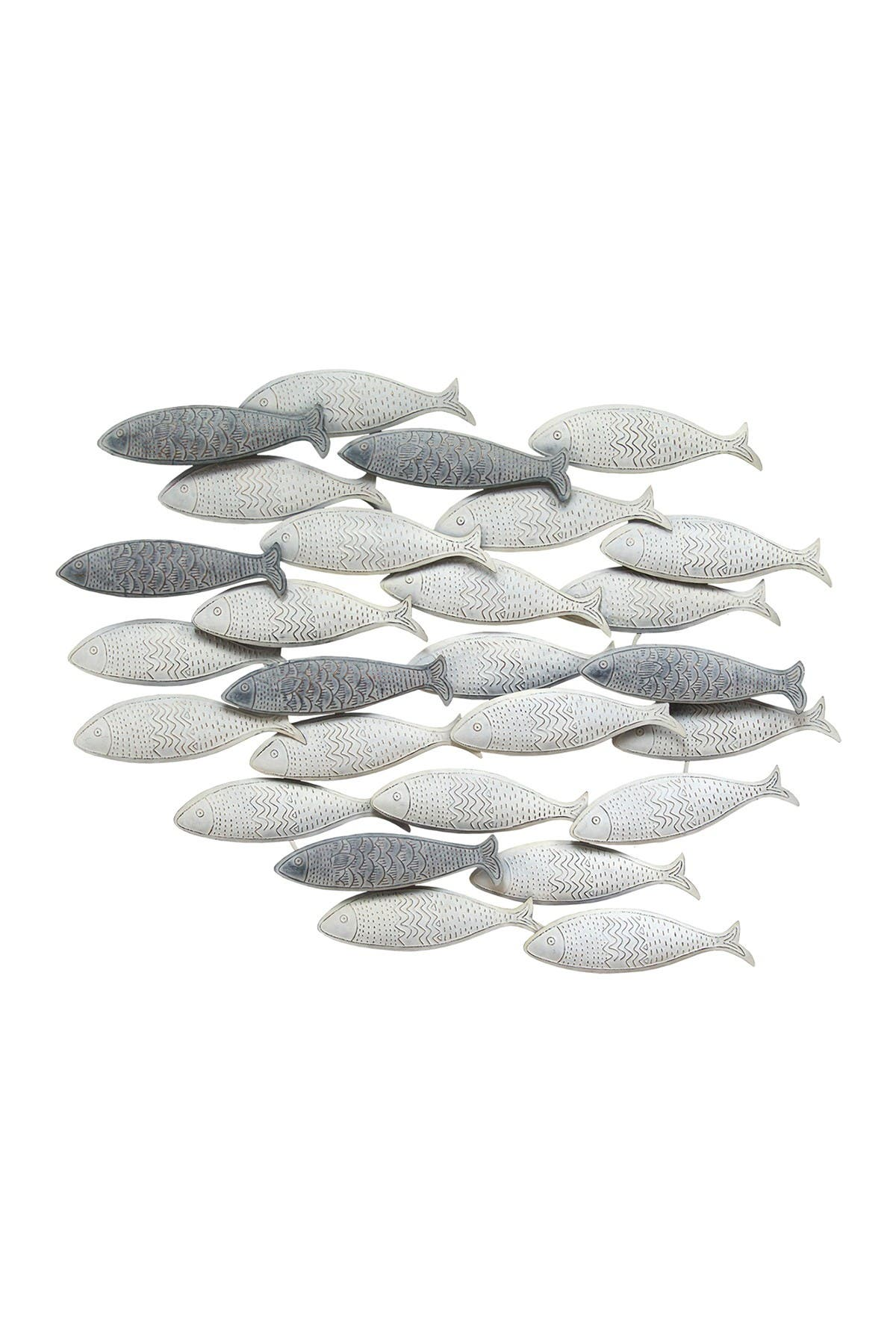Image of Stratton Home Grey School of Fish Wall Decor