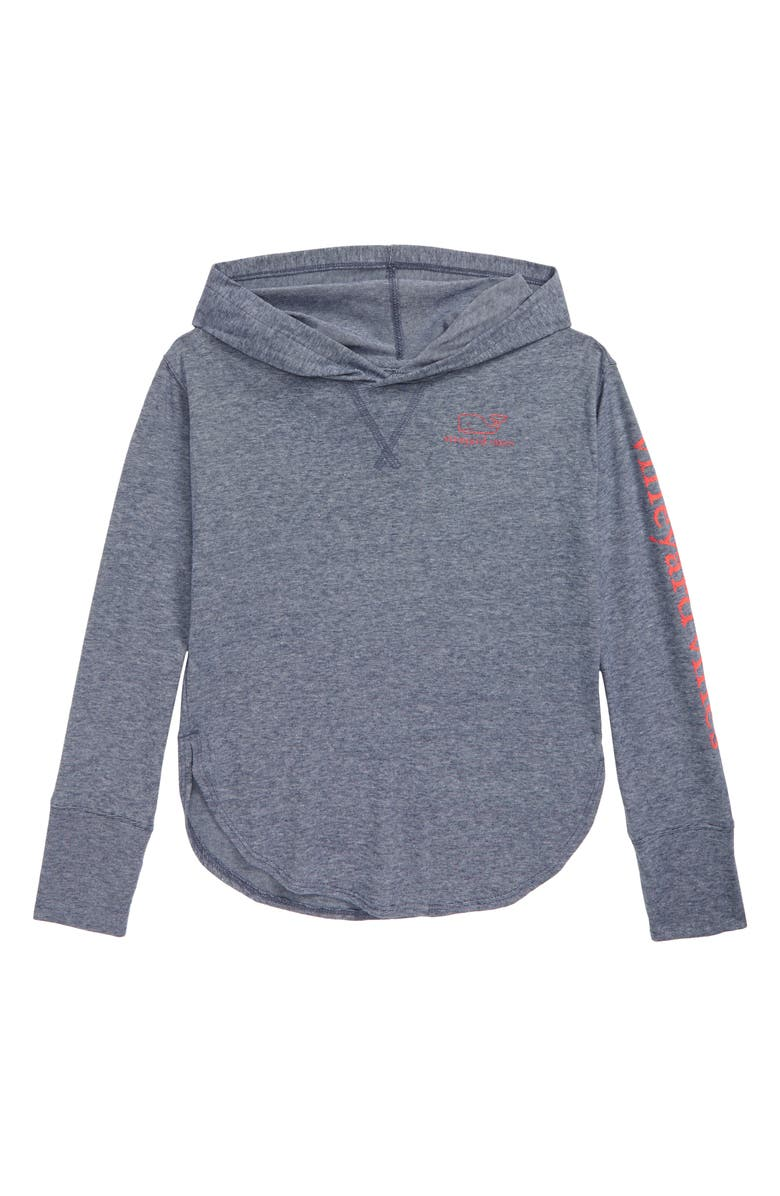 VINEYARD VINES Relaxed Graphic Hooded Sweatshirt, Main, color, DEEP BAY/WHITE CAP