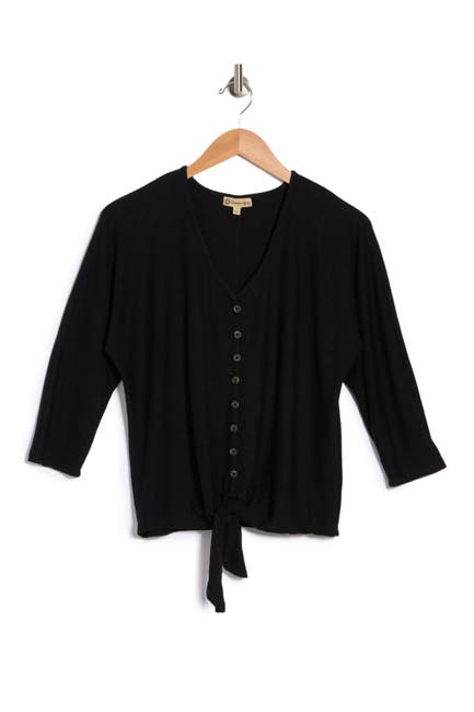 Image of Democracy 3/4 Dolman Sleeve Button Down Blouse