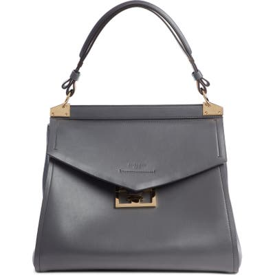 Givenchy Medium Mystic Leather Satchel - Grey