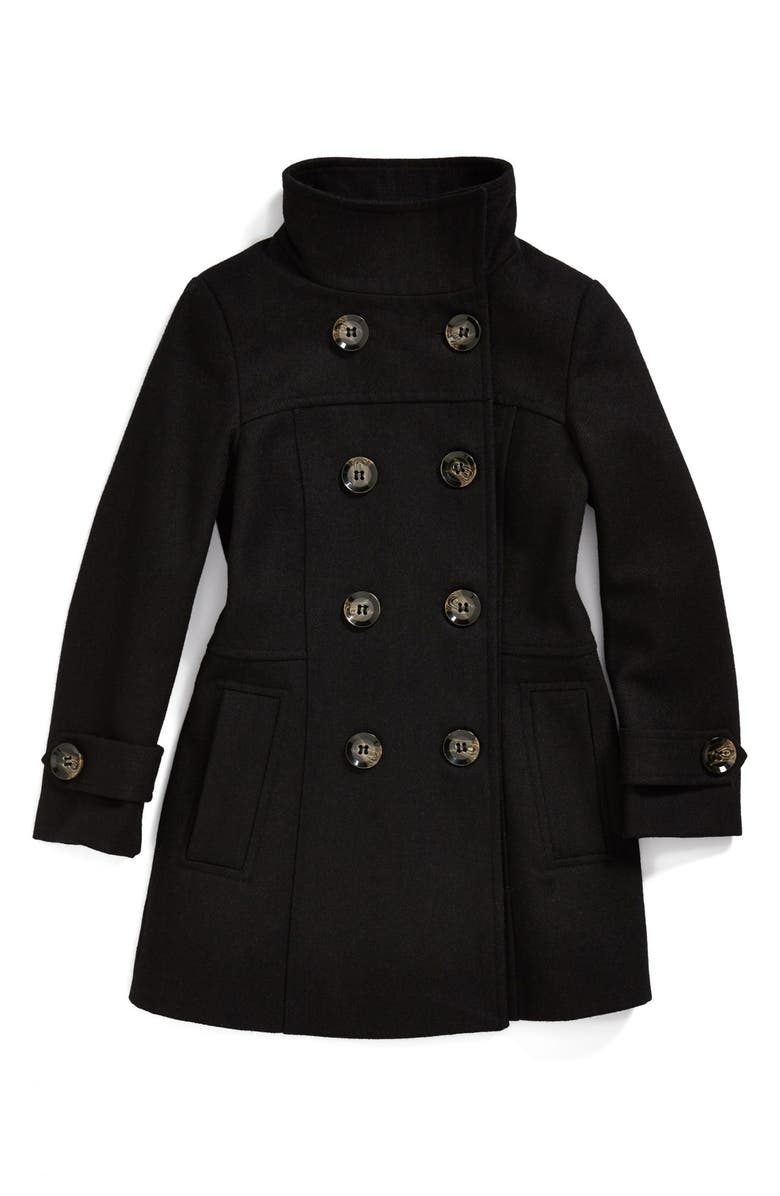 SUGARFLY Double Breasted Coat, Main, color, 001
