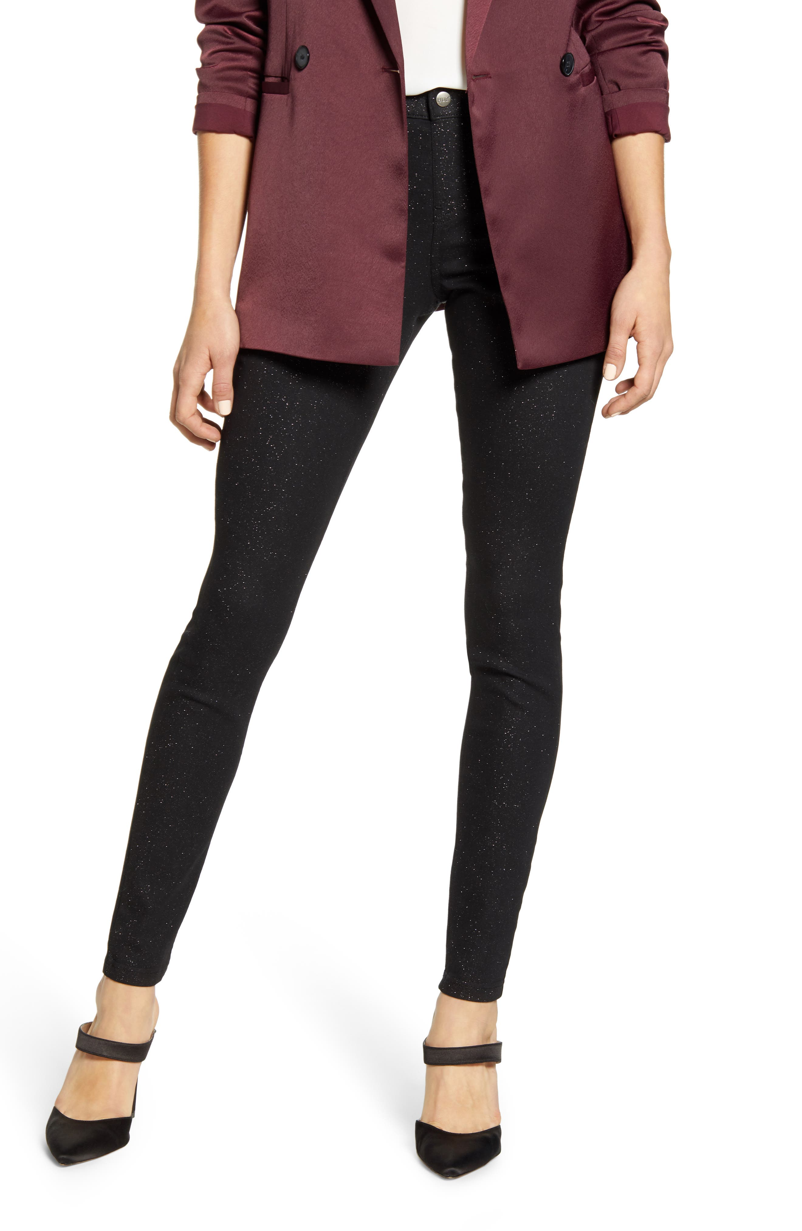 Image of HUE Sparkle Denim Skinny Jeans