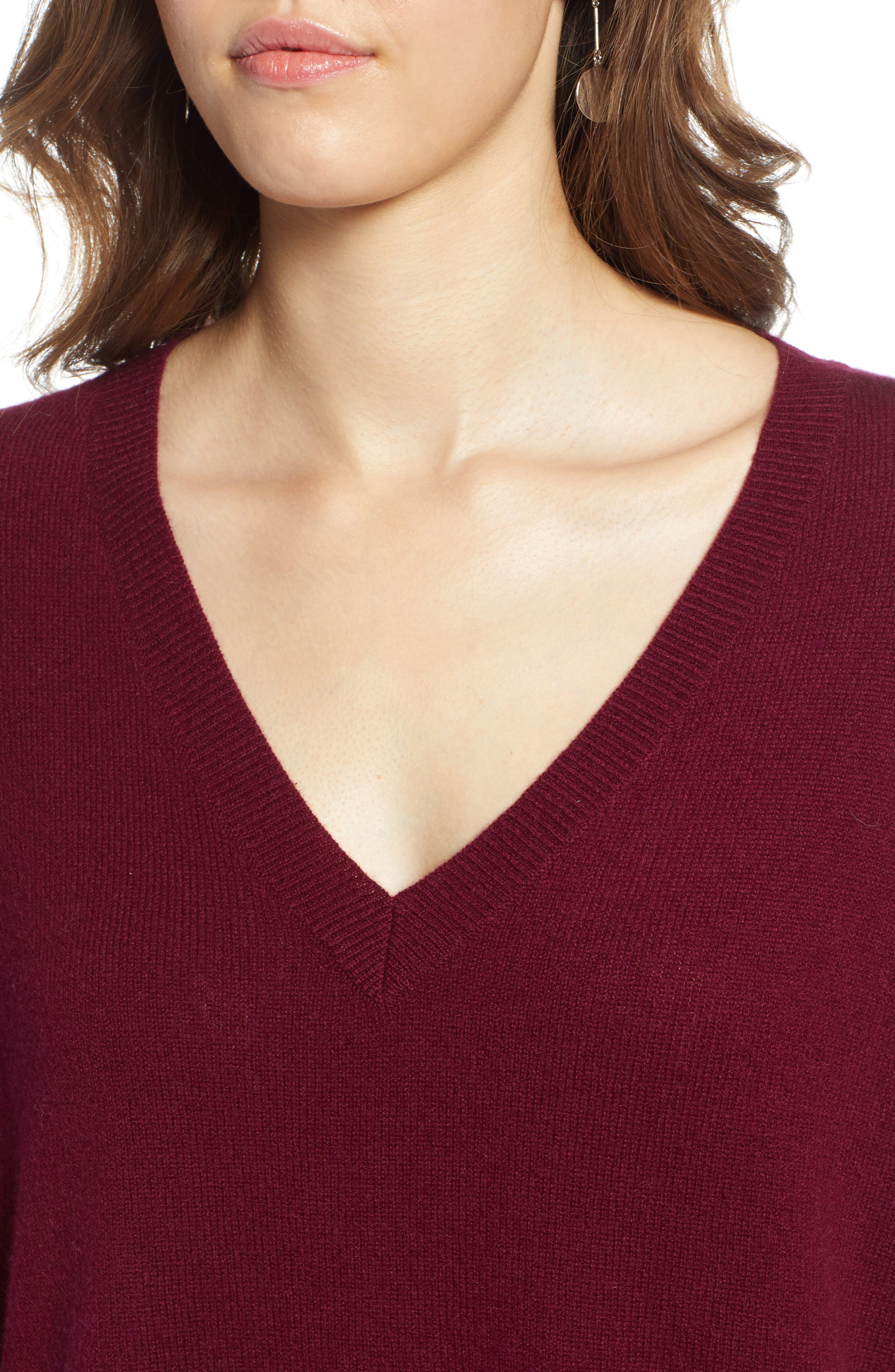 ,                             Relaxed V-Neck Cashmere Sweater,                             Alternate thumbnail 74, color,                             930
