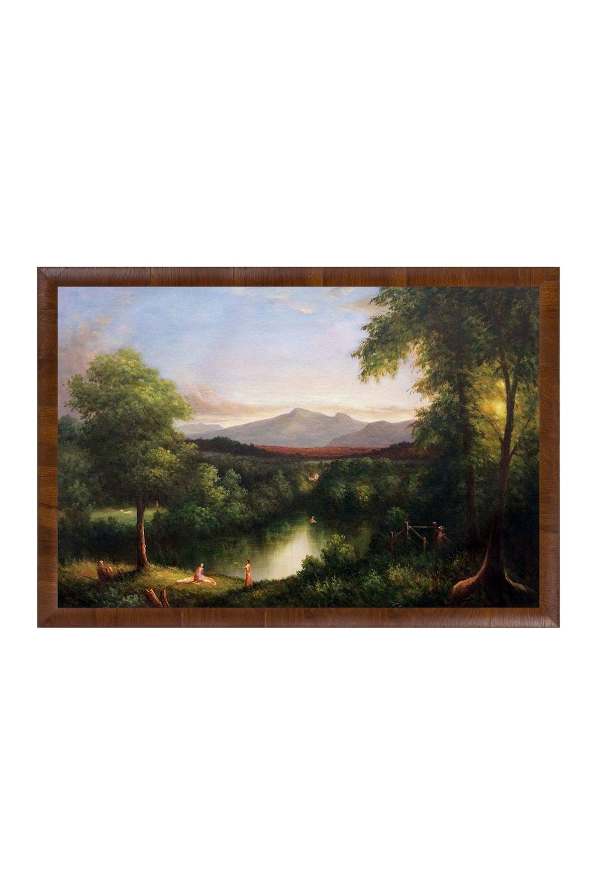 View on the Catskill--Early Autumn, 1837 with Panzano Olivewood Frame - 27\\\