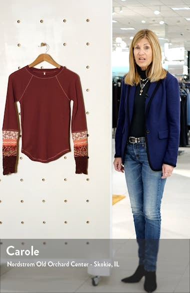 In the Mix Jacquard Cuff Top, sales video thumbnail