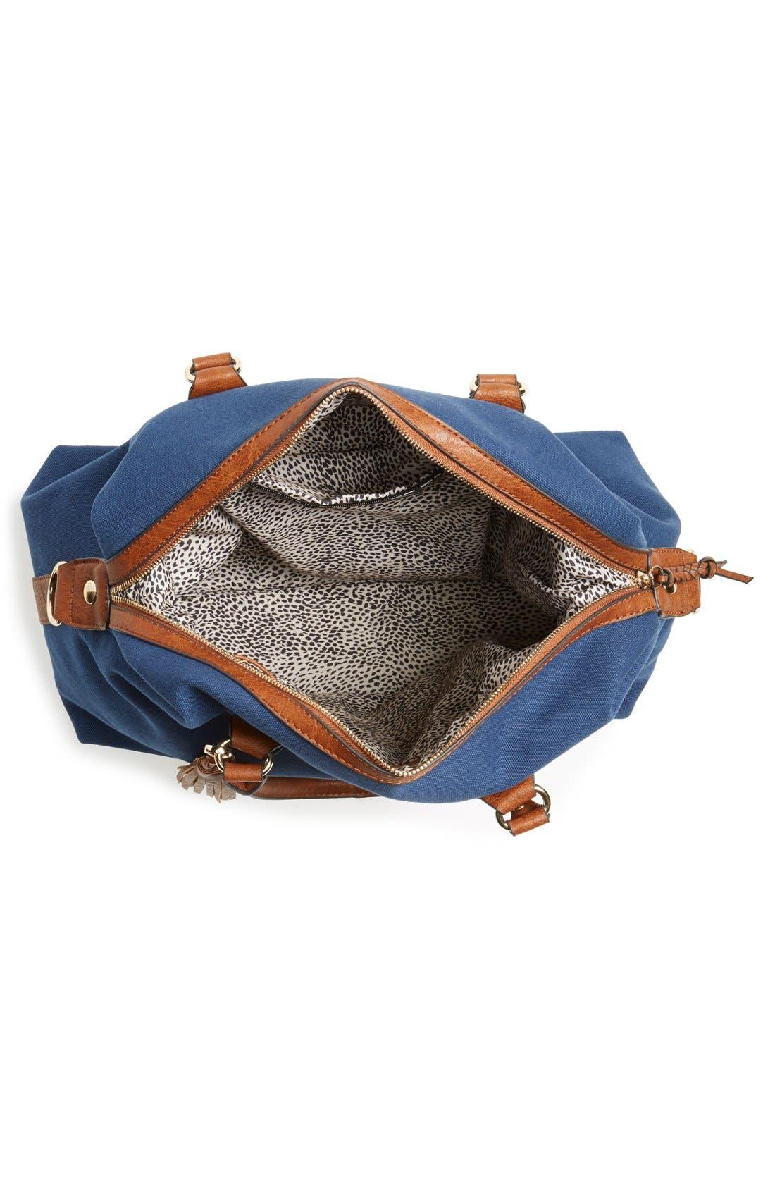 ,                             'Jodi' Tassel Canvas Duffel Bag,                             Alternate thumbnail 12, color,                             400