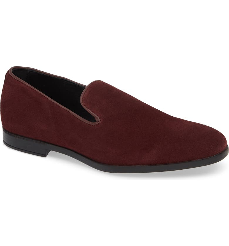 SUPPLY LAB Sam Loafer, Main, color, BURGUNDY SUEDE