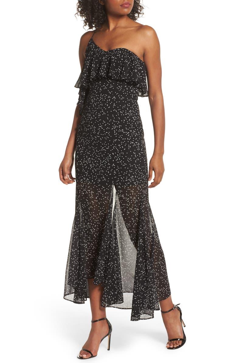 KEEPSAKE THE LABEL Embrace One Shoulder Dress, Main, color, 001