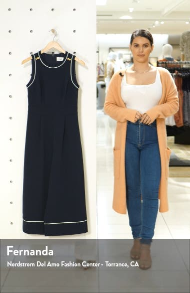 Piped Crepe Crop Jumpsuit, sales video thumbnail