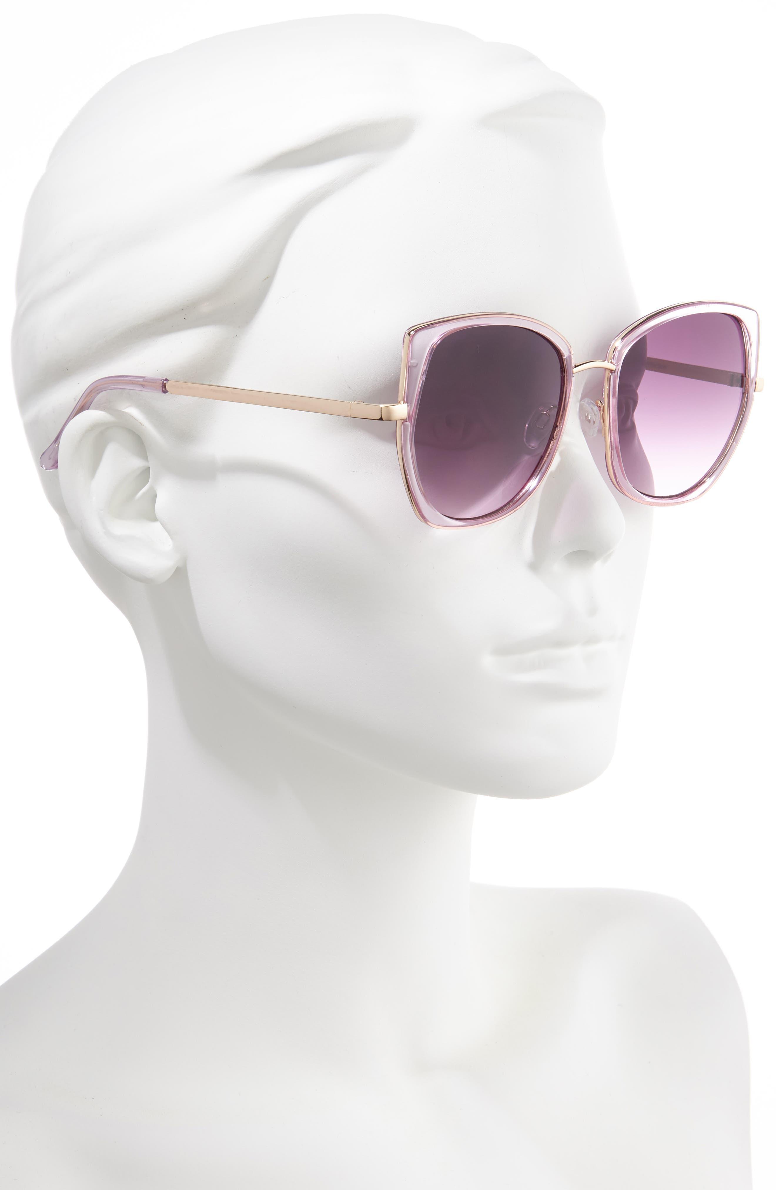 ,                             Leith 60mm Square Sunglasses,                             Alternate thumbnail 5, color,                             500
