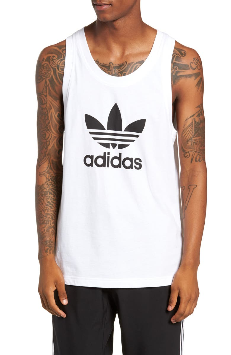ADIDAS ORIGINALS Trefoil Tank, Main, color, WHITE