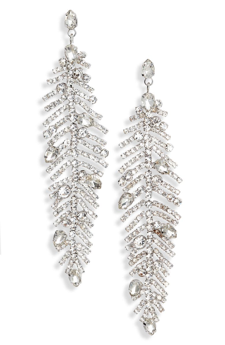 CRISTABELLE Crystal Trend Drop Earrings, Main, color, 040