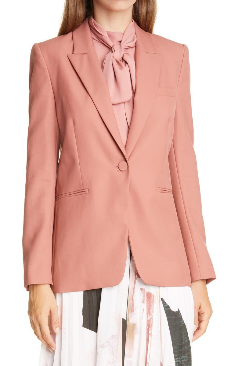 JUDITH & CHARLES Siena Wool Jacket, Main, color, ROSEWOOD
