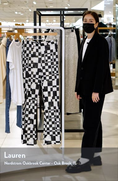 Co-ord Checkerboard Flare Trousers, sales video thumbnail