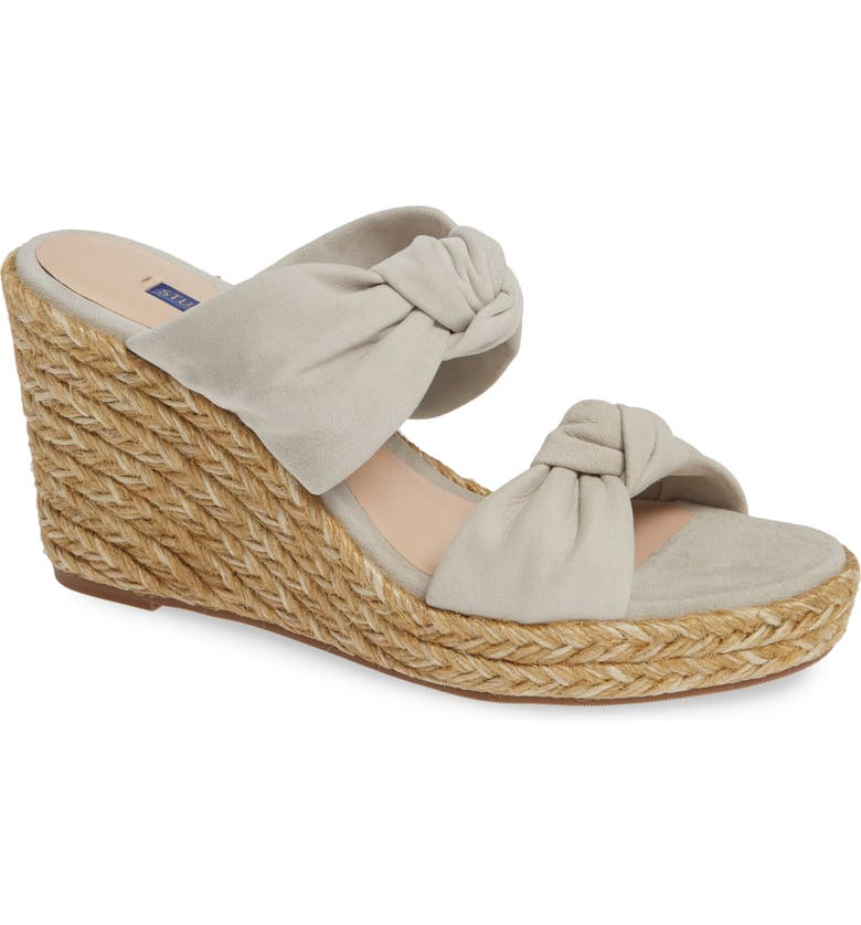 STUART WEITZMAN Sarina Espadrille Wedge Slide Sandal, Main, color, SEAL SUEDE