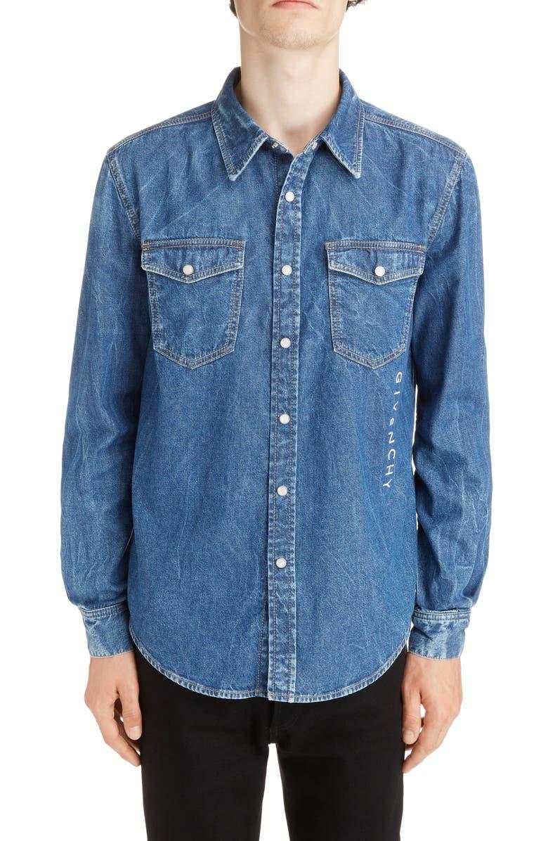 GIVENCHY Denim Shirt, Main, color, 420