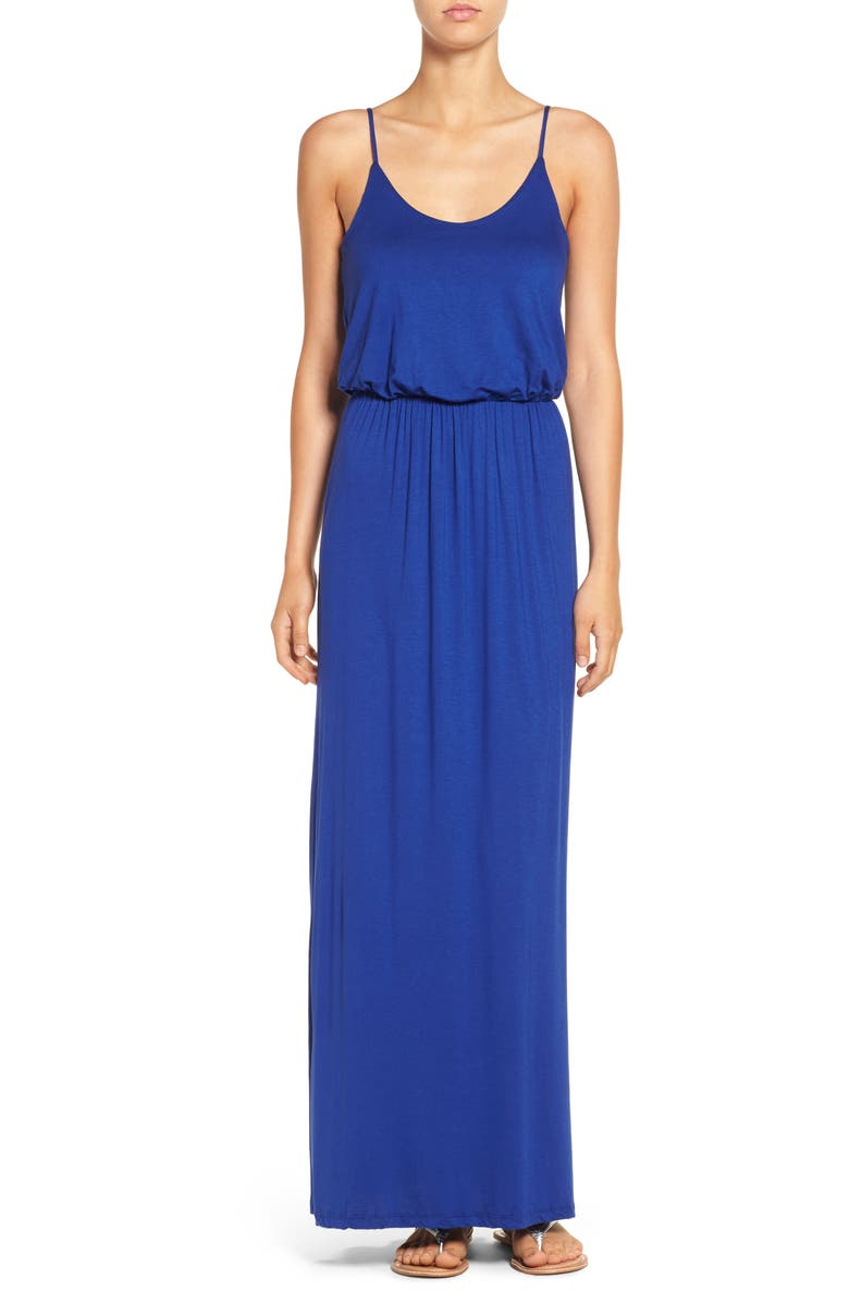 ALL IN FAVOR Knit Maxi Dress, Main, color, NAVY