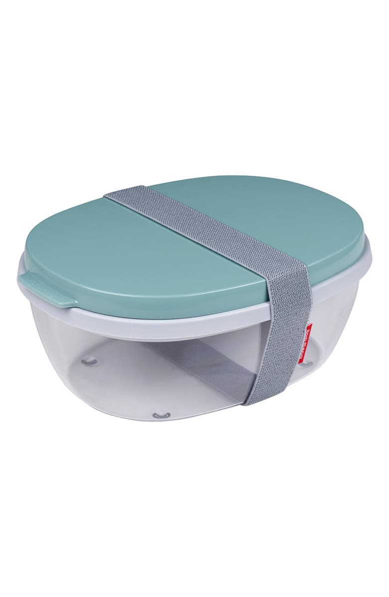 ROSTI MEPAL Ellipse Duo-Salad Bento Box, Main, color, NORDIC GREEN