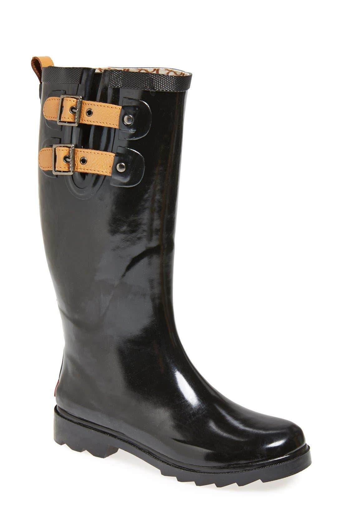 ,                             'Top Solid' Rain Boot,                             Main thumbnail 5, color,                             002