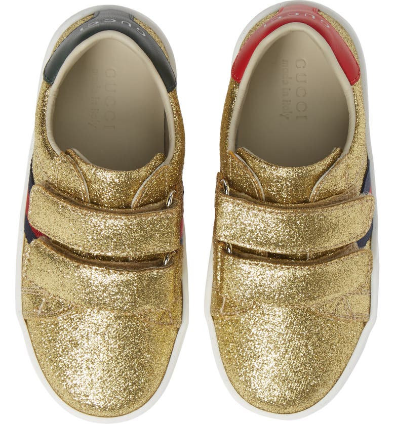 GUCCI New Ace Sneaker, Main, color, METALLIC GOLD