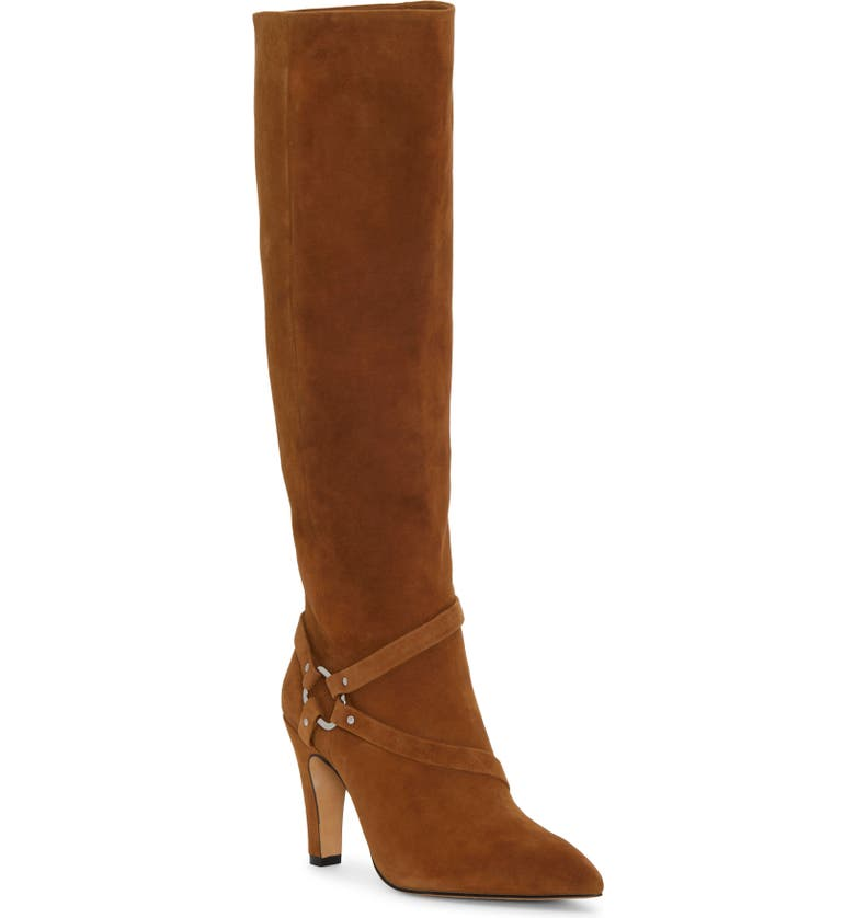 VINCE CAMUTO Charmina Knee High Boot, Main, color, BROWN MOSS SUEDE