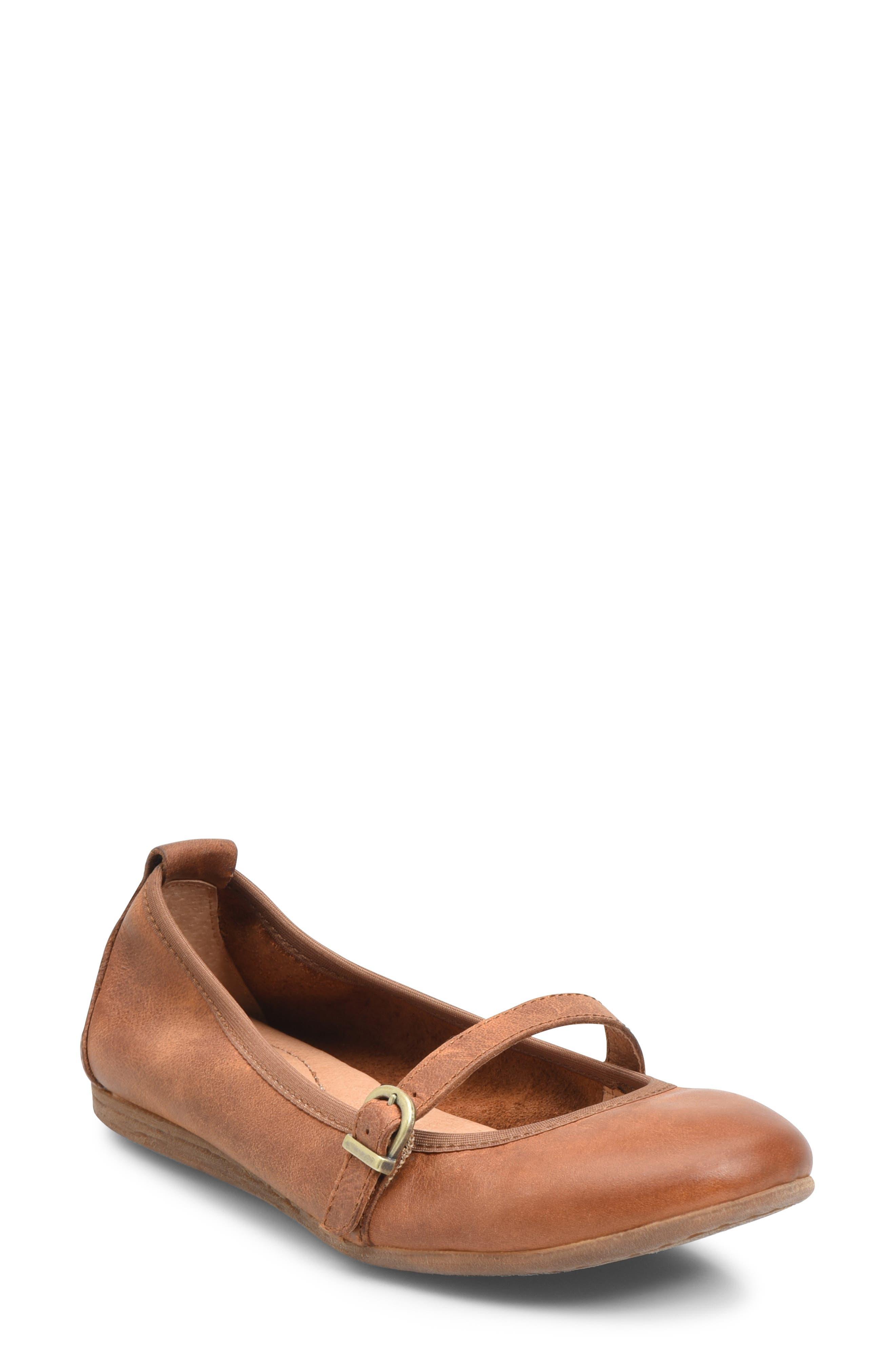 B?rn Curlew Mary Jane Ballet Flat, Brown