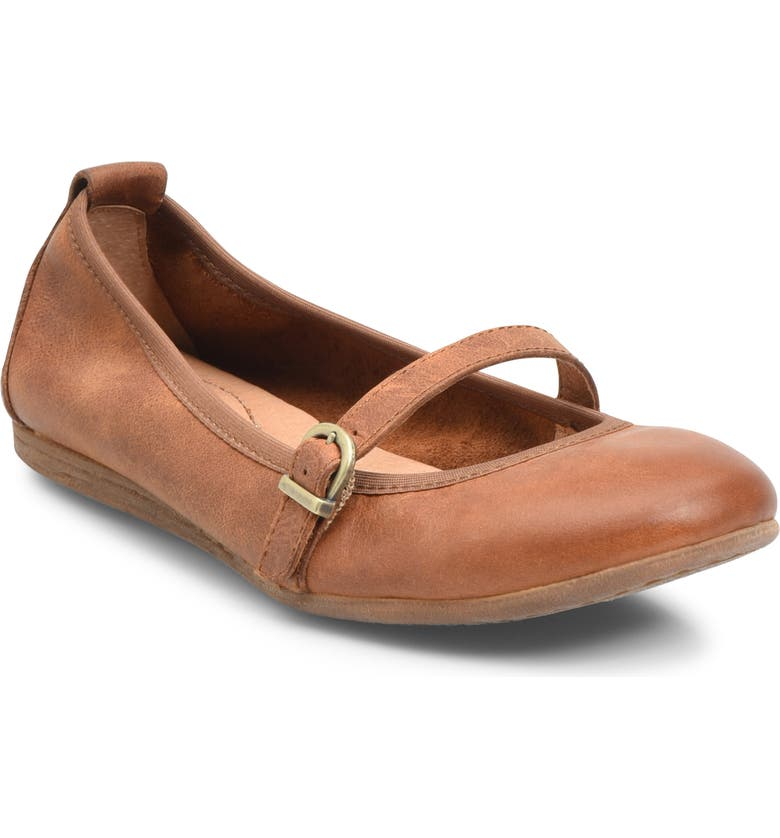 BØRN Curlew Mary Jane Ballet Flat, Main, color, TAN LEATHER