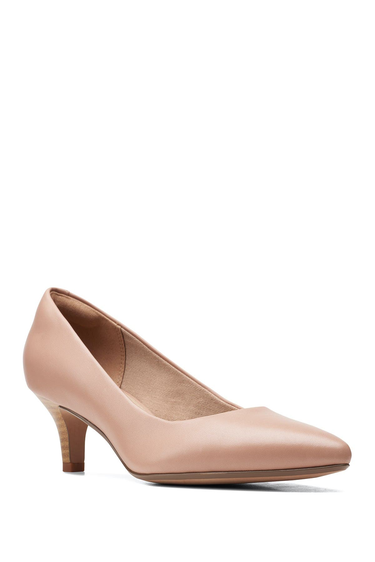 Image of Clarks Linvale Jerica Leather Pump - Wide Width Available