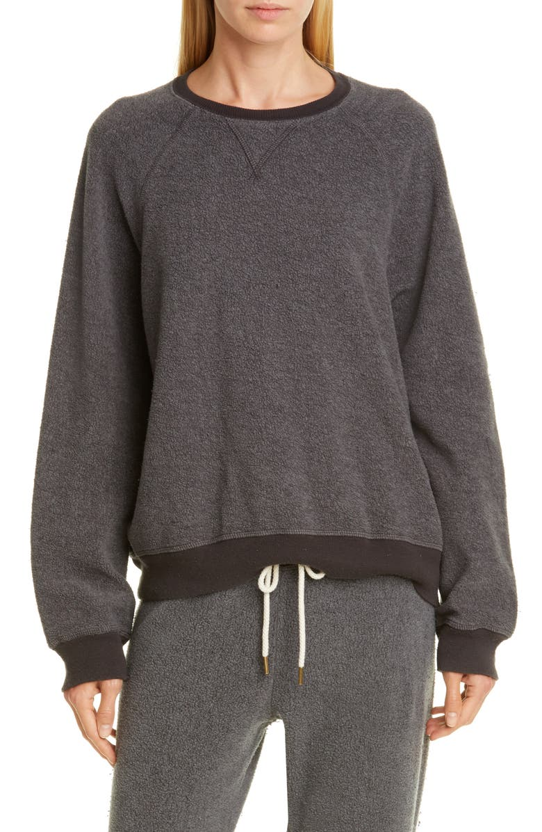 THE GREAT. Slouch Sweatshirt, Main, color, WASHED BLACK