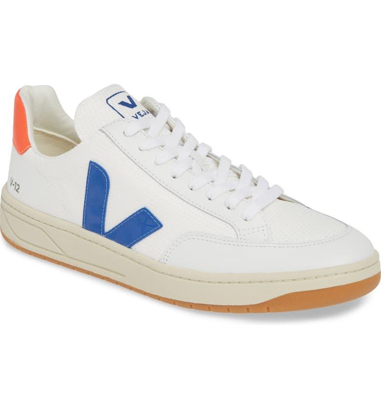 VEJA V-12 Sneaker, Main, color, WHITE/INDIGO/ORANGE