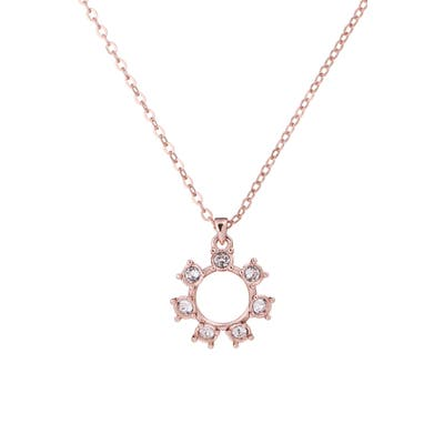 Ted Baker London Codie Crystal Clockwork Pendant Necklace (Nordstrom Exclusive)