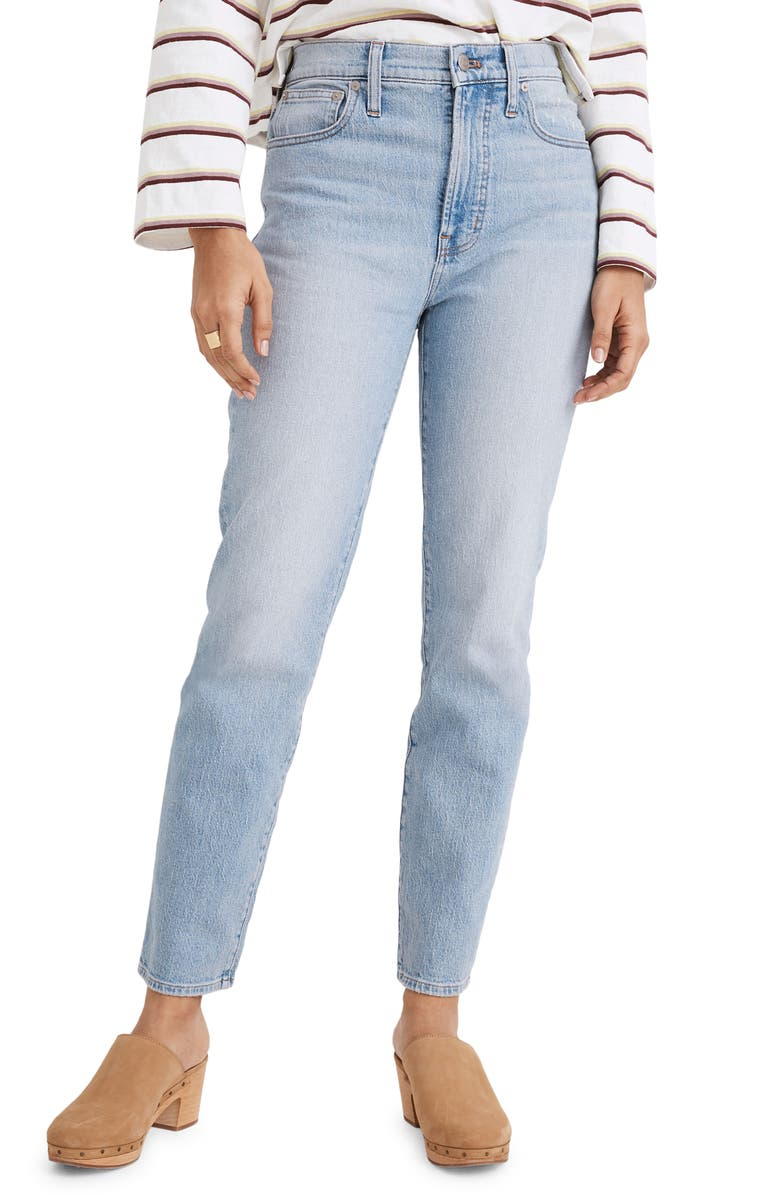 MADEWELL The Perfect High Waist Tapered Jeans, Main, color, FIORE WASH