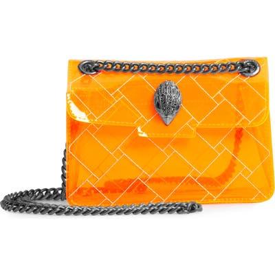 Kurt Geiger London Mini Kensington Transparent Shoulder Bag - Orange