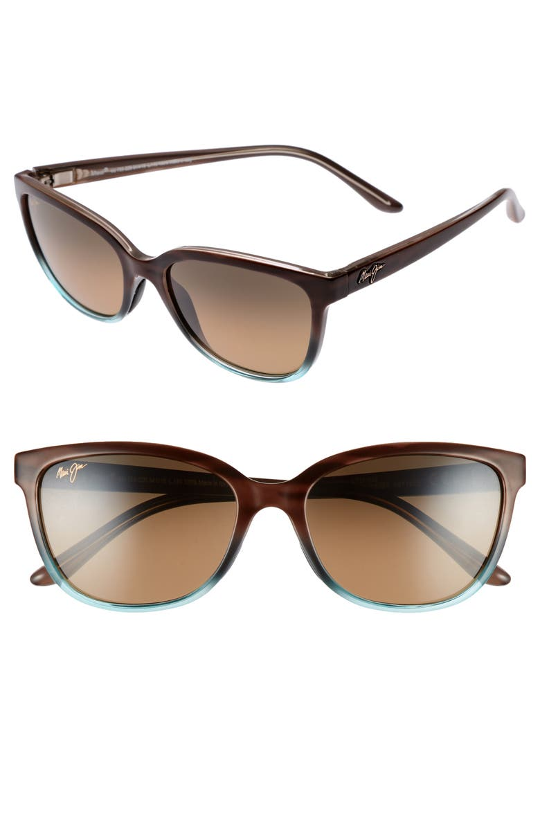 e1191432a94c Honi 54mm Polarized Cat Eye Sunglasses, Main, color, SANDSTONE WITH BLUE/  BRONZE