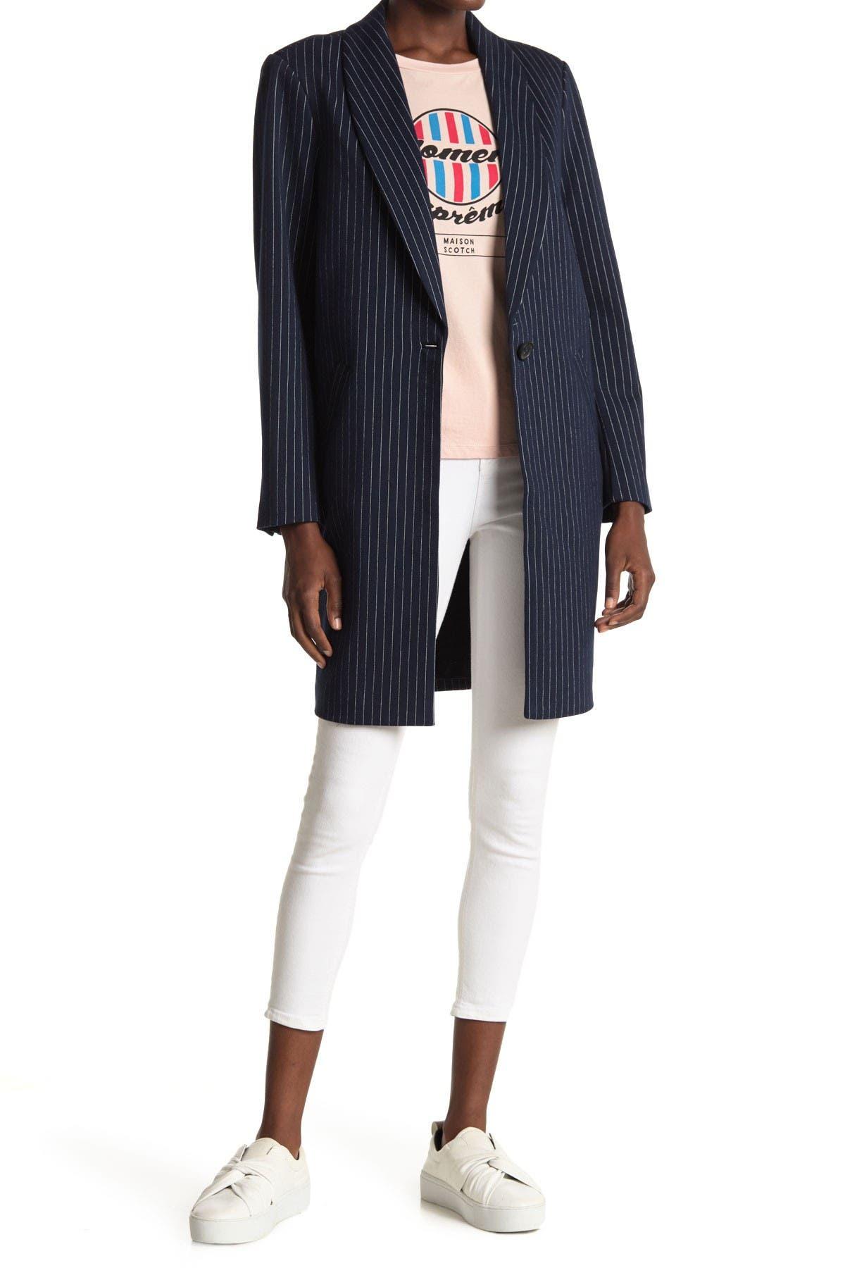 Image of Scotch & Soda Tailored Stripe Jersey Coat